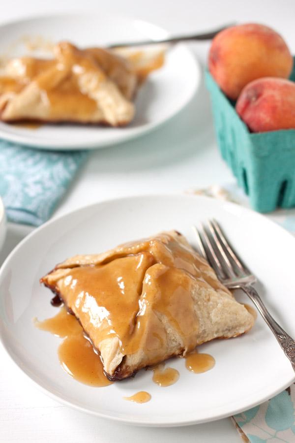 Peach Dumplings with Vanilla Cream Sauce - EmilyCarlin.com